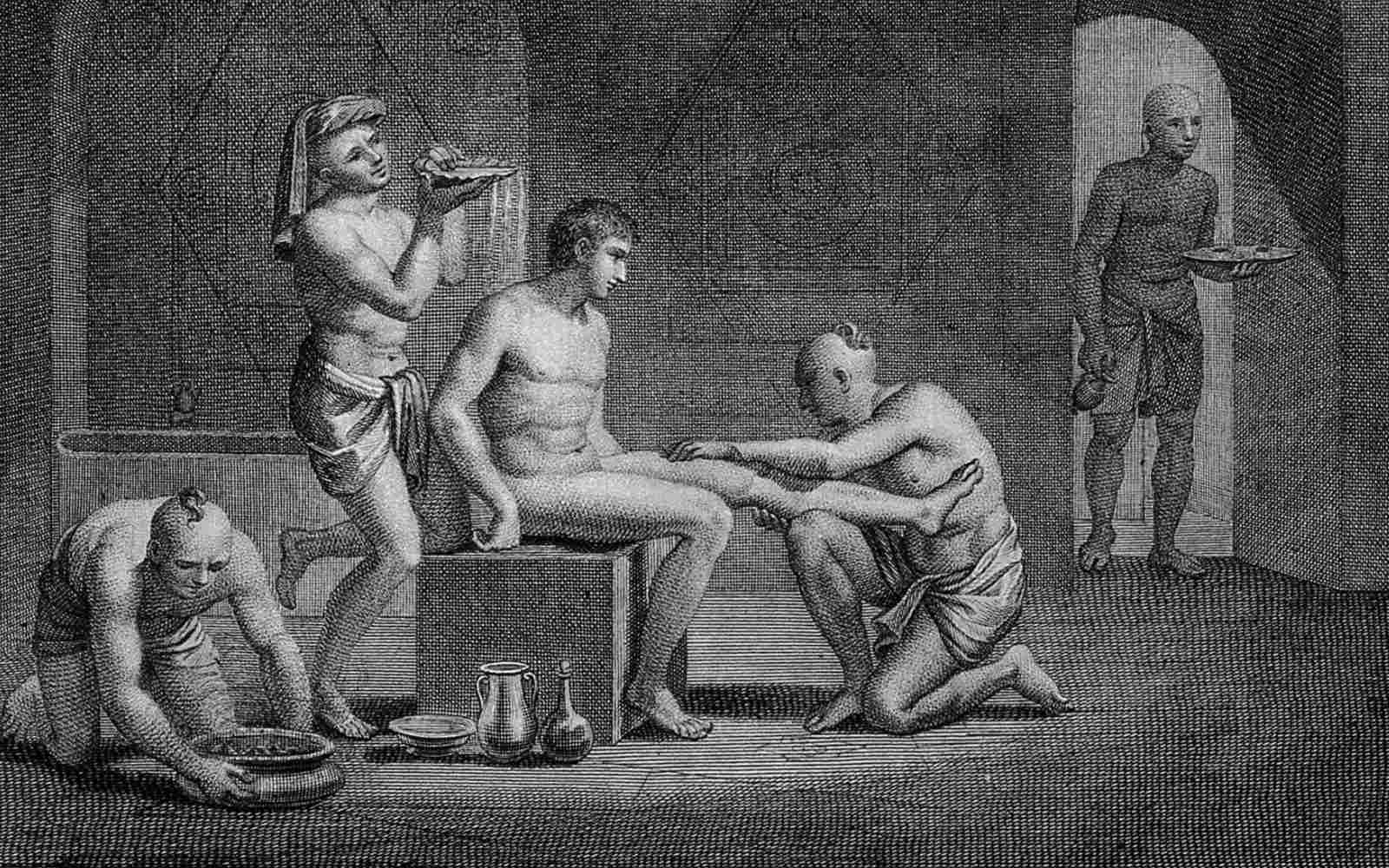 Interior of an Egyptian bathhouse